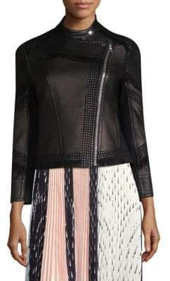 Yigal Azrouel Moto Fringe Leather Jacket
