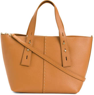 Made In Italy Double Handle Leather Tote