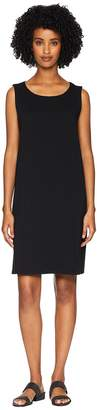 Eileen Fisher Organic Cotton Stretch Jersey Bateau Neck Shift Dress Women's Dress