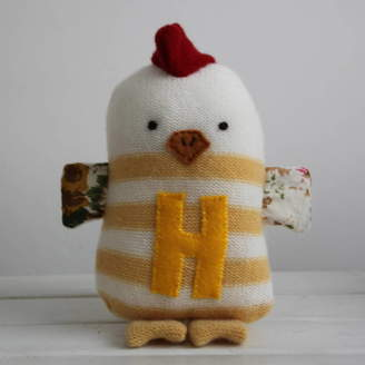 Laura Long Striped Hen With Initial