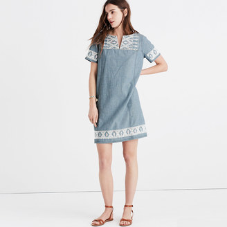 Embroidered Chambray Tunic Dress $158 thestylecure.com