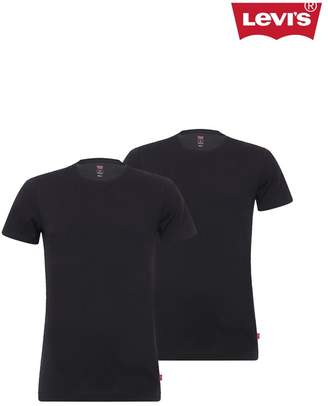 Levi's Mens Crew Neck T-Shirts Two Pack - Black