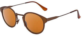 RetroSuperFuture Super by Panama Synthesis Round Sunglasses, Bronze