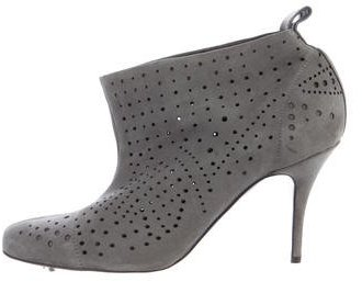 Stella McCartney Suede Perforated Ankle Boots