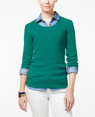 Tommy Hilfiger Jenny Cable-Knit Sweater, Only at Macy's $59.50 thestylecure.com