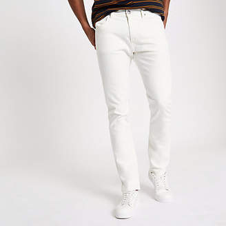River Island Lee white slim fit tapered Luke jeans