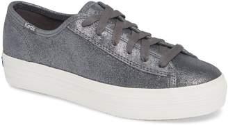 Keds R) Triple Kick Glitter Suede Platform Sneaker