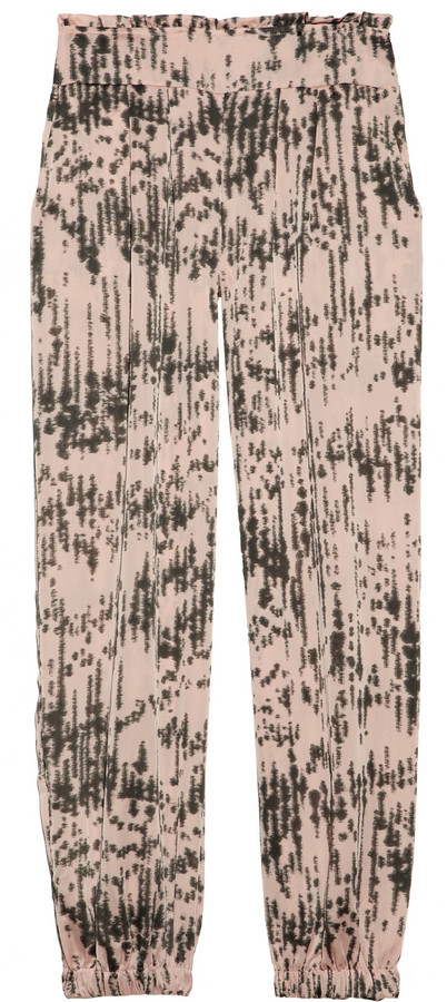 T-Bags Cropped printed satin pants