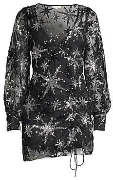 For Love & Lemons For Love& Lemons For Love& Lemons Women's Stardust Sequined Sheer Mini Dress