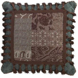 Croscill Classics Catalina Brown Square Tassel Decorative Pillow