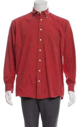 Burberry Checkered Button-Up Shirt
