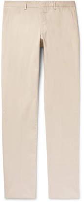 Ermenegildo Zegna Slim-Fit Garment-Dyed Stretch-Cotton Twill Trousers