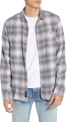 Vans Banfield III Tailored Fit Plaid Button-Up Flannel Shirt