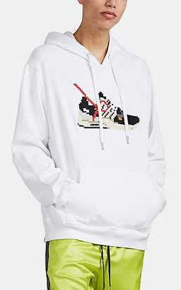Mostly Heard Rarely Seen 8-Bit Men's Virgil Sneaker-Graphic Cotton Hoodie - White