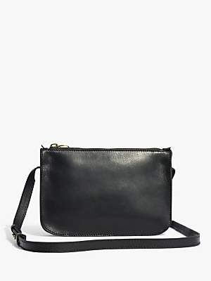 Madewell Leather Simple Cross Body Bag, True Black