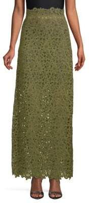 Valentino Sheer Lace Maxi Skirt