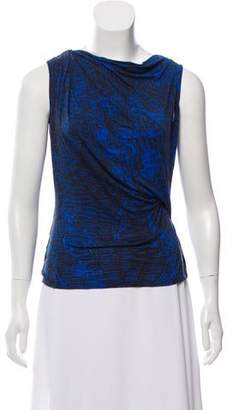 Helmut Lang Printed Knit Top