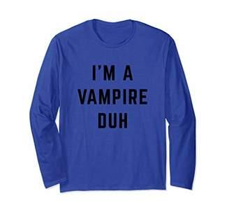 I'm a Vampire Duh Easy Halloween Costume Long Sleeve T-Shirt