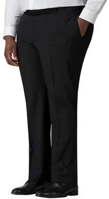 Racing Green - Plain Black Twill Big And Tall Trousers