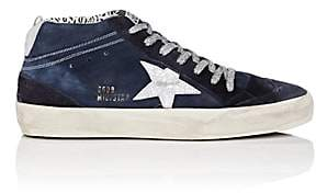 Golden Goose Women's Mid Star Suede Sneakers-Navy