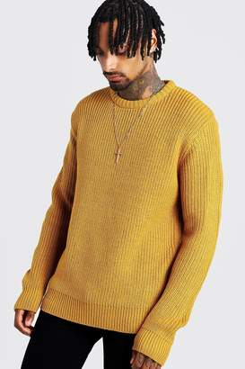 boohoo Crew Neck Fisherman Knit Jumper