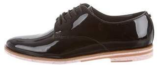 Ted Baker Patent Leather Round-Toe Oxfords