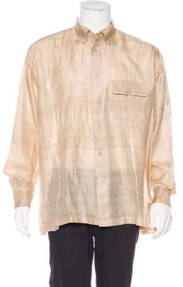 Issey Miyake Silk Button-Up Shirt
