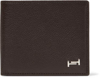 Tod's Logo-Appliqued Full-Grain Leather Billfold Wallet