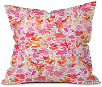 Deny Designs Jacqueline Maldonado Flirt Pink Throw Pillow