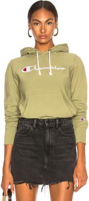 Champion Hooded Sweatshirt in Army Green | FWRD