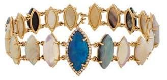 Irene Neuwirth 18K Opal & Diamond Link Bracelet