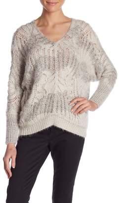 Molly Bracken V-Neck Hi-Lo Sweater