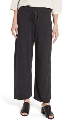 Eileen Fisher Tencel(R) Lyocell Blend Knit Wide Leg Pants