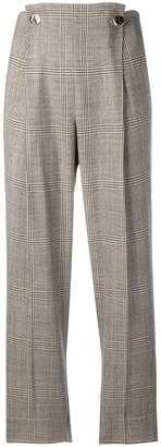Incotex checked button trousers