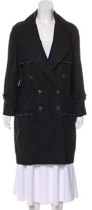 Chanel Lightweight Knee-Length Coat Black Lightweight Knee-Length Coat