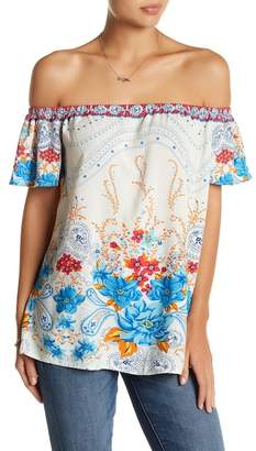 Flying Tomato Floral Paisley Blouse