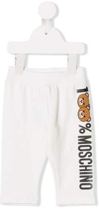 Moschino Kids teddy bear print sweatpants