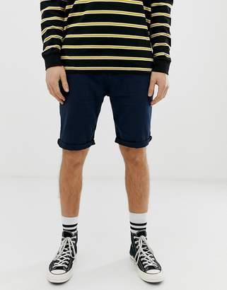 Esprit linen short in navy
