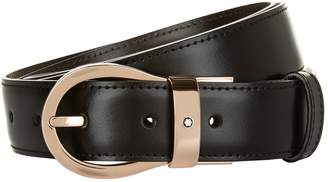 Montblanc Reversible Rose Gold Buckle Belt