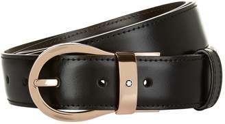 Montblanc Reversible Rose Gold Buckle Belt