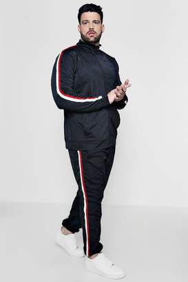 boohoo Big And Tall Funnel Neck Tricot Tracksuit