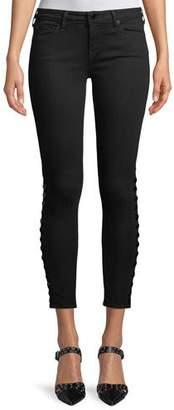 True Religion Halle Side-Snap Skinny-Leg Ankle Jeans