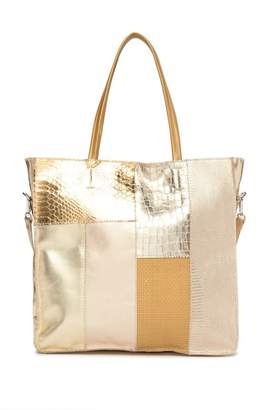 Persaman New York Sicilia Leather Snake Embossed Tote Bag