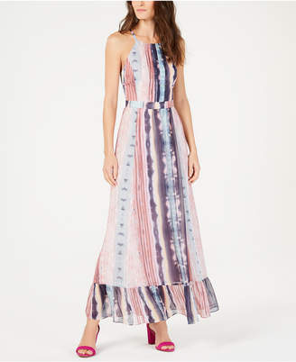 INC International Concepts I.N.C. Flounce-Hem Halter Maxi Dress, Created for Macy's