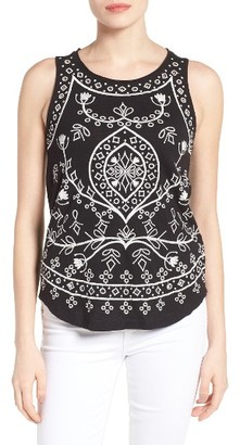 Women's Lucky Brand Eyelet Embroidered Cotton Tank $49.50 thestylecure.com