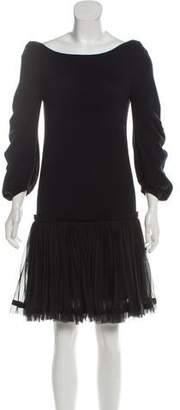 Sacai Wool Pleated Dress