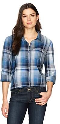 Erika Women's Esme Roll Sleeve Button Front Shirt