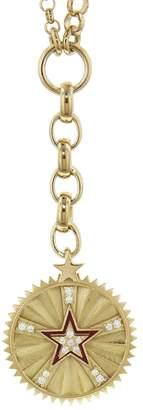 Foundrae Medium Star Medallion On Mixed Belcher Necklace