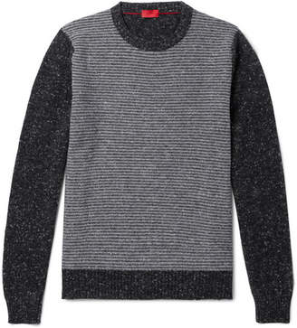 Isaia Slim-Fit Striped Cashmere-Blend Sweater