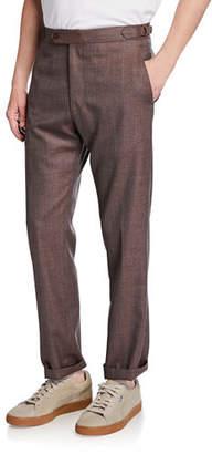 Zanella Men's Seasonal Sharkskin Straight-Leg Pants